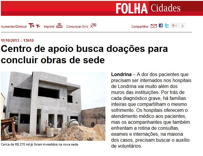 CAE na Folha de Londrina